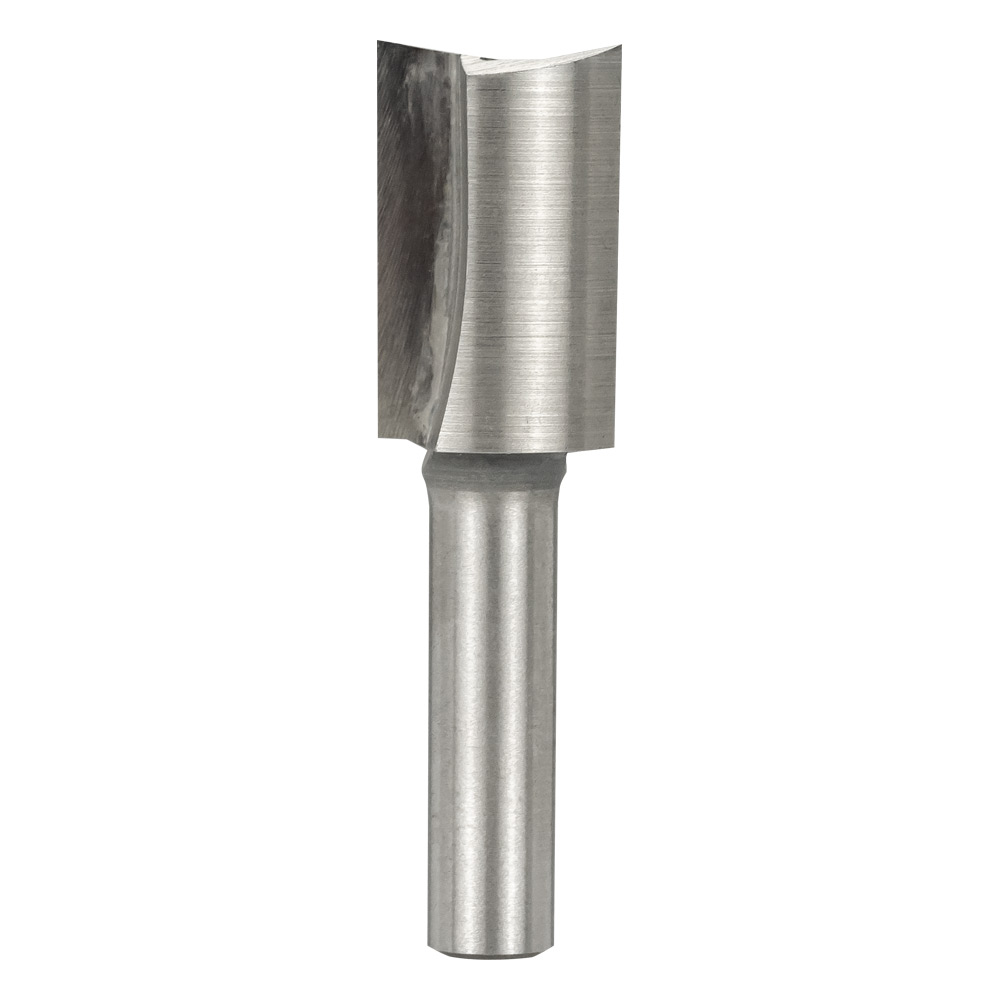 "TWO FLUTE HSS STRAIGHT BIT WITH 6.5mm (1/4"") SHANK"